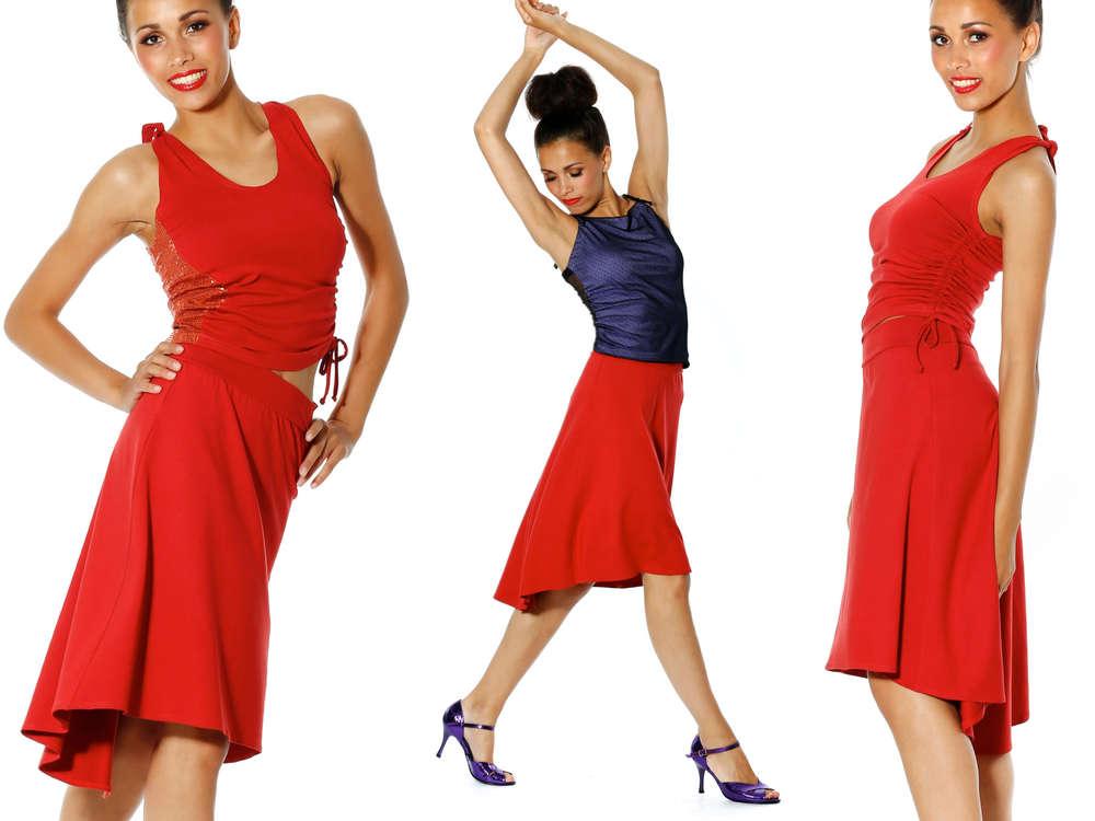 40ad9f549d Salsa   Tango Skirt  Inca . Mava Lou s red skirt
