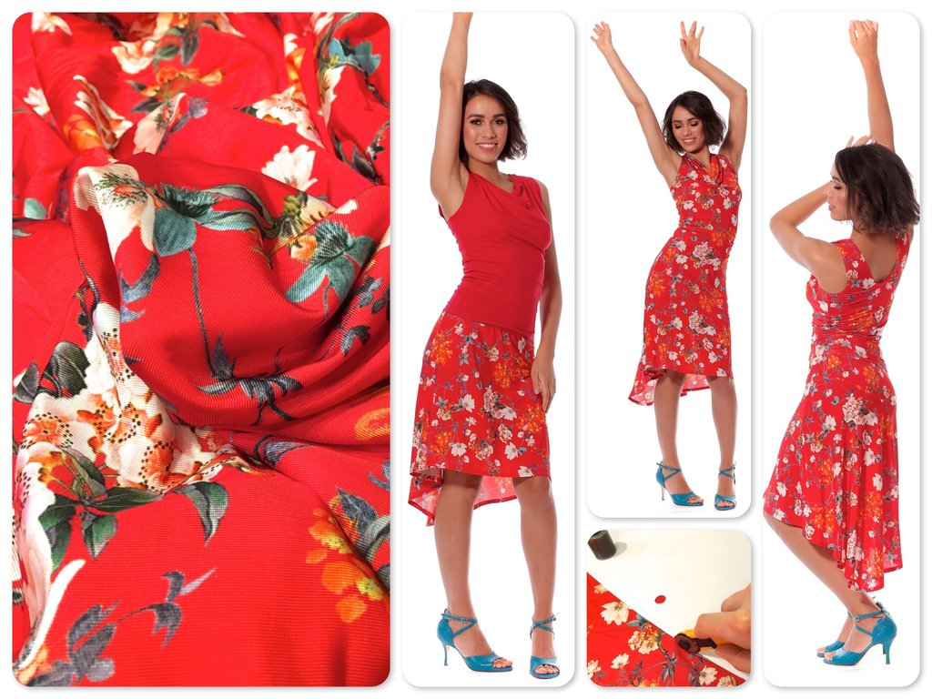 red tango dance skirt hanami now available in our. Black Bedroom Furniture Sets. Home Design Ideas